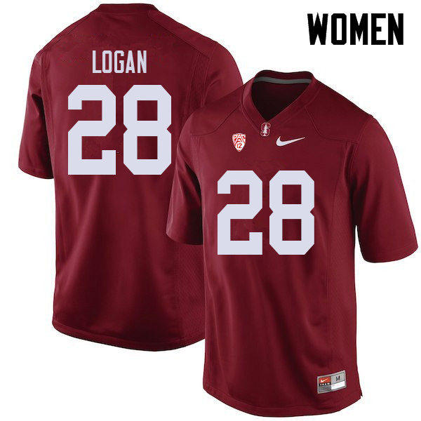 Women #28 Donjae Logan Stanford Cardinal College Football Jerseys Sale-Cardinal